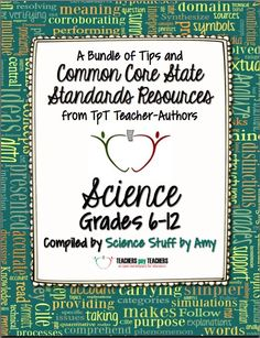 FREE!   A collaborative eBook from 19 teachers with tips and freebies for implementing Common Core standards into the science classroom.