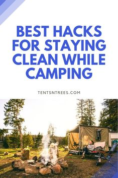Want to stay clean while camping. These are the best hacks and tips that will help you stay clean on your next camping trip. Camping Guide, Camping Spots, Camping Meals, Tent Camping, Camping Hacks, Campsite, Outdoor Camping, Camping Recipes, Travel Hacks