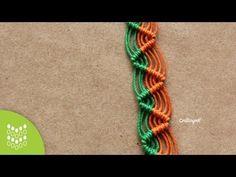Pulsera Zig-zag de Macramé Cavandoli: Diseño sencillo. - YouTube