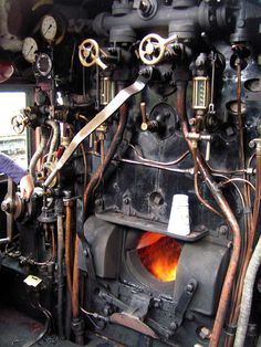 Levers, Dials and Pipes by Les Forrester on Yoda Funny, Steam Railway, Pennsylvania Railroad, Steam Engine, Steam Locomotive, Boiler, Pipes, Engineering, Steamers