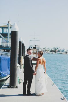 Photography: Chaz Cruz Photography - chazcruz.com   Read More on SMP: http://www.stylemepretty.com/california-weddings/newport-beach/2014/01/20/shabby-chic-balboa-yacht-club-wedding/