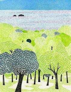 This page lists the works of tamae mizukami, an active Tokyo Illustrators Society (TIS) member. Forest Illustration, Digital Illustration, Tree Story, Apple Watch Wallpaper, 6th Grade Art, Artwork For Home, Naive Art, Illustrations And Posters, Picture Design