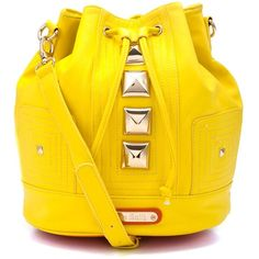 Anna Smith New York Yellow Duffle Bag ($68) ❤ liked on Polyvore