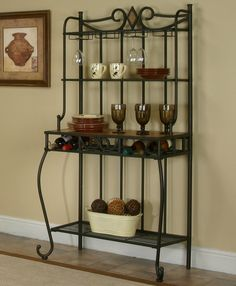 1000 Images About Bakers Racks With Wine Storage On