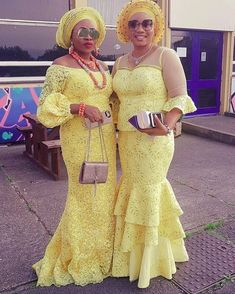 33 Casual Nigerian Aso Ebi styles 2018 for weekend - Fashionuki Nigerian Lace Styles, African Lace Styles, African Lace Dresses, Latest African Fashion Dresses, African Dresses For Women, African Attire, African Wear, African Women, Dame Chic