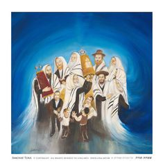 Items similar to Unique oil painting of Simchat Torah, Jewish art, Giclee reproduction, High quality fine art print on canvas. Painted by Lina Hazan on Etsy Simchat Torah, Fine Art Prints, Canvas Prints, Biblical Art, Shabbat Shalom, Jewish Art, Jackson Pollock, Judaism, Vincent Van Gogh