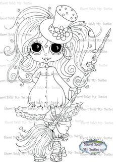 INSTANT DOWNLOAD Digital Digi Stamps Big Eye Big Head Dolls Digi Fall Bestie IMG3482TM By Sherri Baldy