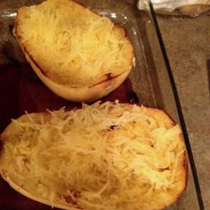 Spaghetti squash is so easy & really delicious. Just microwave a minute or two to soften the skin, cut in half, remove seeds & bake open side down in olive oil for 20-25 minutes. Then turn & bake another 15-20 minutes open face up. Salt, pepper, butter & pull apart with a fork, good to serve.