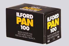 ILFORD PAN 100 135/36 Pellicola bianco e nero  #darkroom #pellicole #bianconero mailto:info@fotomatica.it   www.fotomatica.it