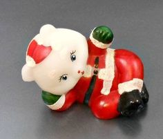 Mouse over image to zoom                Have one to sell? Sell it yourself  Fenton Art Glass Reclining Happy Santa Bear 1990