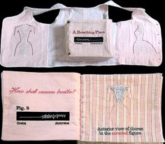 Mechanics of Beauty: Antique flannel child corset vest with buttons.
