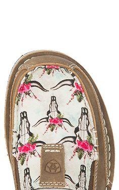 Ariat Women's Brown Bomber Steer Head & Roses Cruiser Casual Shoe | Cavender's