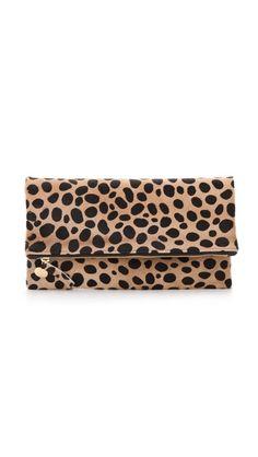 Clare Vivier leopard clutch.