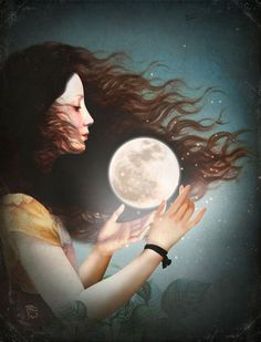 'Meet the Moon' by Christian  Schloe on artflakes.com as poster or art print $22.17