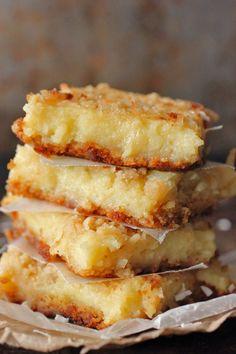 Lemon Coconut Gooey Butter Bars