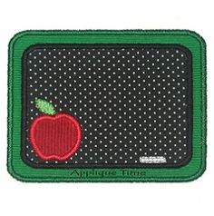 Chalkboard Applique, 2 Styles - 3 Sizes! | back-to-school | Machine Embroidery Designs | SWAKembroidery.com Applique Time