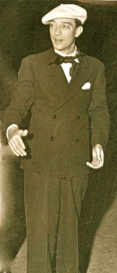 Buster Keaton (smiling!)