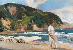 """Joaquín Sorolla. """"María en la playa de Zarautz"""", 1910"""