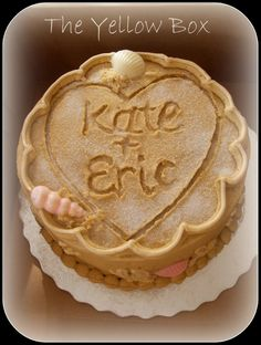 beach theme bridal shower cake. LOVE LOVE LOVE!!!