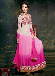 Amyra Dastur Ombre Floor Length Anarkali Suit. WOW!!