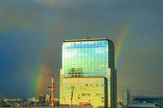 We can see double rainbow! Is it a sign of good luck? 二重の虹がホテルから見えました!幸運の予兆とも言われているようですね。