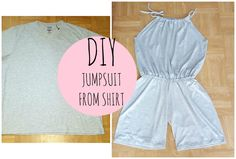 There are so many ways you can transform a t shirt, I came up with joining two shirt to make a jumpsuit and the outcome is awesome. so this is another diy fr...