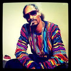 Snoop Lion - dope sweater - neon