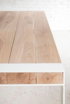 Solid oak and steel dining table. Aspen, Steel Dining Table, Wood Table, Dining Tables, Coffee Tables, Colores Ral, Tabletop, Restaurant Tables And Chairs, Home Decor