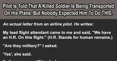 Pilot Is Told That A Family Of A Fallen Soldier Is Traveling On His Plane. But They Never Thought He'd Do THIS.