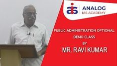 Public Administration Optional | Demo Video | Explanation By Mr. Ravi Kumar Public Administration, Civil Service, Coaching, Training