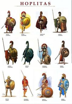 Hoplitas: Hoplites were citizen-soldiers of Ancient Greek city-states who were primarily armed with spears and shields. Hoplite soldiers utilized the phalanx formation in order to be effective in war with fewer soldiers. Greek History, Ancient History, European History, Ancient Aliens, American History, Art History, Fantasy Armor, Medieval Fantasy, Military Art