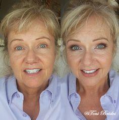 Jennifer's Wedding 07/18/2014. Makeup by #ToniBrides #groomsmom #makeup #weddingmakeup #makeover #matureskin #beforeandafter