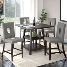 Found it at AllModern - Burgess 5 Piece Counter Height Dining Set