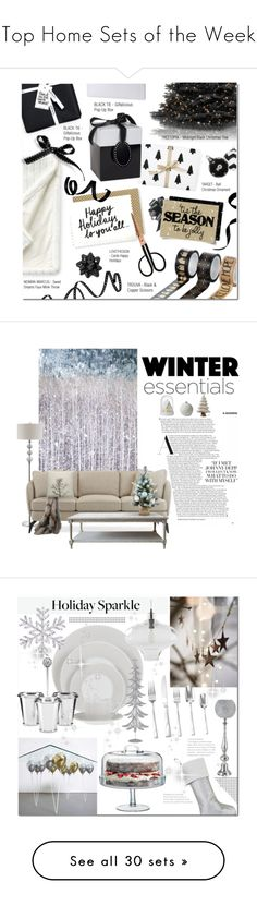 """""""Top Home Sets of the Week"""" by polyvore ❤ liked on Polyvore featuring interior, interiors, interior design, home, home decor, interior decorating, Sweet Dreams, Holly's House, National Tree Company and Lands' End"""
