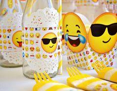 Etiquetas para imprimir con Emojis