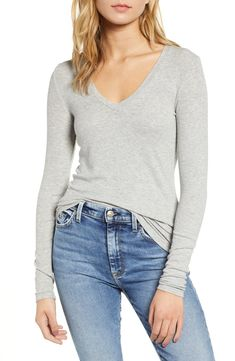 online shopping for Splendid Ribbed V-Neck Tee from top store. See new offer for Splendid Ribbed V-Neck Tee Maternity Nursing Dress, Nordstrom Beauty, Stylish Tops, V Neck Tee, Looking For Women, Autumn Fashion, Clothes For Women, Tees, Womens Fashion
