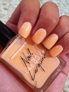 Summer nails Peach: - Miss Ladyfinger