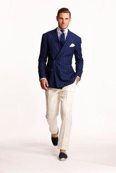 See all the Collection photos from Ralph Lauren Spring/Summer 2015 Menswear now on British Vogue Suit Fashion, Look Fashion, Mens Fashion, Fashion Spring, Milan Fashion, Der Gentleman, Gentleman Style, Sharp Dressed Man, Well Dressed Men