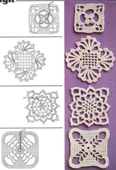 Busy Housewives: Square crochet motifs