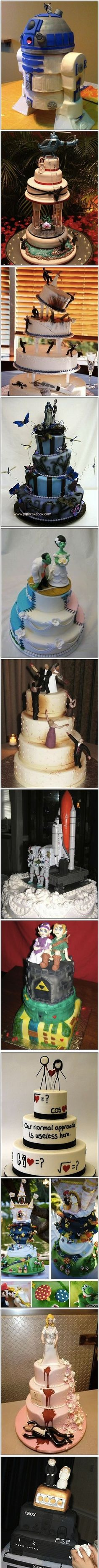 Incredible wedding cakes.