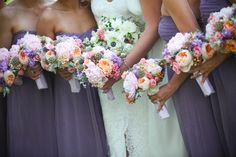 flowers by tina barrera photos by steve seebeck  pink peonies, peach garden roses, lilac