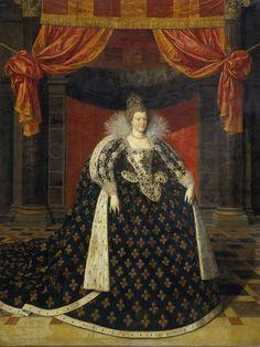 Maria de' Medici (1573-1642). Echtgenote van Hendrik IV, koning van Frankrijk, atelier van Frans Pourbus (II), 1590 - 1620