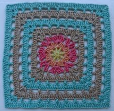 Week 4's square is brought to us by Esther Dijkstra.  You'll love the lacy look of this week's square that again begins with a central flower motif and then squares off with a com…