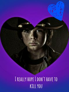 carl, the walking dead, valentine