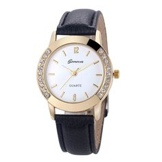 ffd6f9ce264 Women s Luxury Classic Leather Wrist Watch Montre Geneva