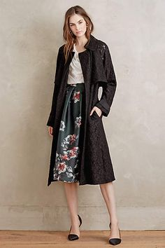 Lace Fleur Trench - anthropologie.com