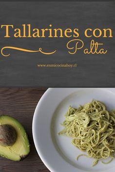 Los tallarines con palta son nutritivos y deliciosos, y fáciles de preparar, una receta para los días en que hay poco tiempo. Chilean Recipes, Chilean Food, Pasta Recipes, Vegan Recipes, Deli Food, Salty Foods, Pasta Dishes, Cooking Time, Food Porn