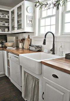 amusing black farmhouse kitchen | Friday Favorites: Farmhouse Kitchen Goodies & More ...