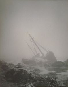 Eleanor Parke Custis , Fog c. Eleanor Parke Custis, a descendant of Martha Washington, was a painter who also pursued photography as an art. Black Sails, Pirate Life, Wind Waker, Am Meer, Shipwreck, Greek Gods, Pirates Of The Caribbean, Story Inspiration, The Little Mermaid