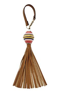 Fossil Leather Tassel Bag Charm